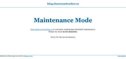 Maintenance Mode – Hiding your school website while it's under construction