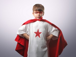 bigstock child dressed as superhero 12157811 400 300x225 Big Stock Photo: Promo Coupon   2 Free Credits   Using Photos on Blogs Part 2