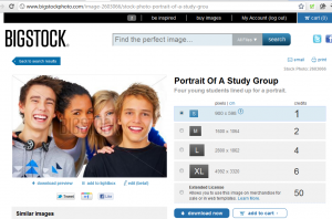 big stock photo smiling teens 300x198 Critical Thinking Images On Websites: Using Photos on Blogs Part 3