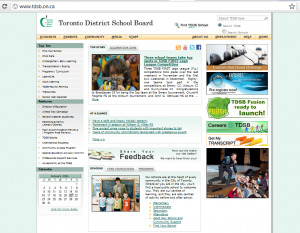 tdsbwebsite 300x233 Critical Thinking Images On Websites: Using Photos on Blogs Part 3